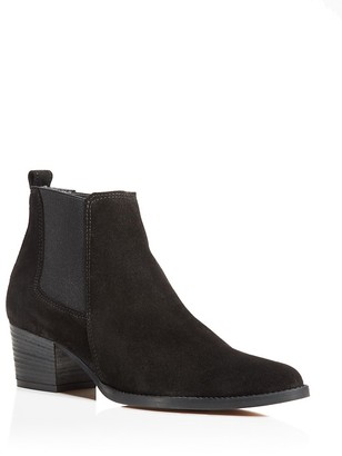 Kenneth Cole Russie Suede Chelsea Booties - 100% Exclusive $170 thestylecure.com