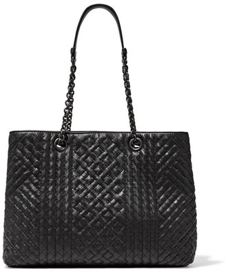 Bottega Veneta - Shopping Intrecciato Leather Tote - Black $3,550 thestylecure.com