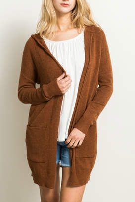 Hem & Thread Pocket detail cardigan sweater