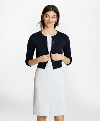 Brooks Brothers Supima Cotton Cropped Cardigan