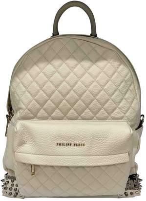 Philipp Plein Beige Leather Backpacks