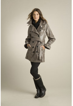 Women's Briana Leather Trench