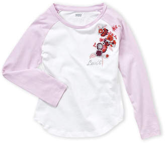 Levi's Girls 4-6x) Floral Embroidered Baseball Top