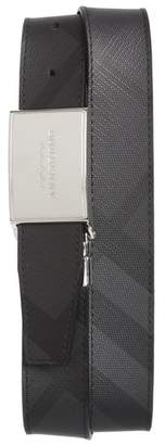 Burberry Check George Reversible Belt