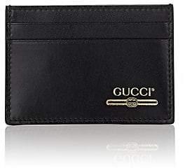 Gucci Men's Logo Leather Money-Clip Card Case - Black