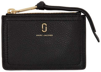 Marc Jacobs Black Soft Shot Top Zip Multi Card Holder