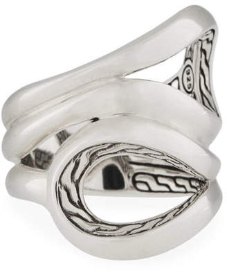John Hardy Classic Chain Sterling Silver Ring, Size 6
