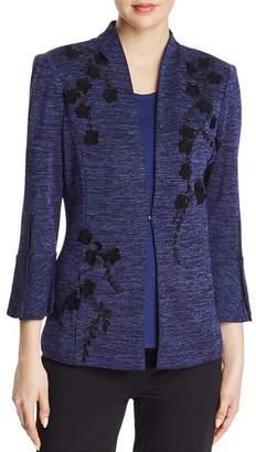 Misook Metallic-Knit Jacket