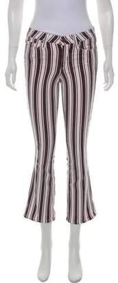 Paige Vintage Striped Mid-Rise Jeans