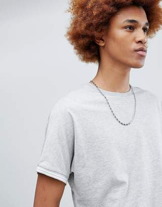 Asos DESIGN relaxed t-shirt with cuff tipping