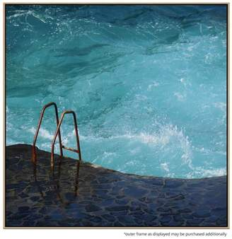 United Artworks Seapool Canvas Print With Floating Frame