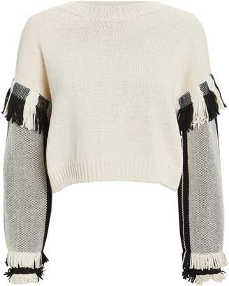 3.1 Phillip Lim Fringe Cropped Sweater