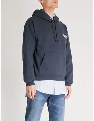 Balenciaga Logo-printed cotton-blend hoody