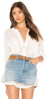 Free People Talk To Me Button Down
