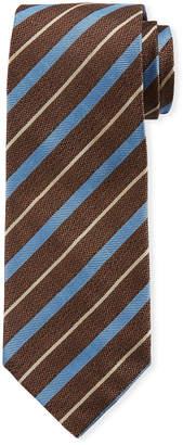 Isaia Multi-Stripe Silk Tie