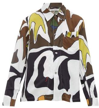 Our Legacy Box Abstract Swordfish Print Shirt - Mens - Multi
