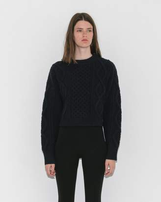 3.1 Phillip Lim Cropped Aran Cable Sweater