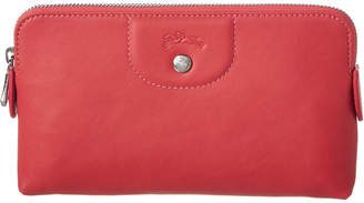 Longchamp Shop-It Leather Pouch