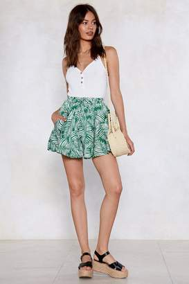 Nasty Gal Don't Leaf Me This Way Palm Shorts