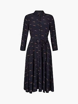 Hobbs Lainey Shirt Dress, Navy Multi