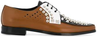 Prada studded oxford shoes