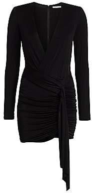 Alice + Olivia Women's Kyra Deep V-Neck Drape Bodycon Dress