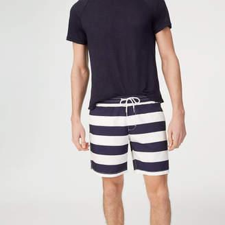 Club Monaco Bo Stripe Swim Trunk