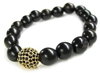 Tai - Gold Wood Bead Bracelet