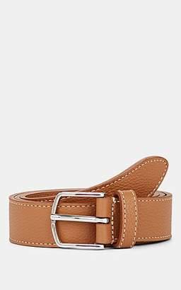Barneys New York Men's Grained Leather Belt - Lt. brown