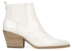 Sam Edelman Women's Winona Leather Western Ankle Boots