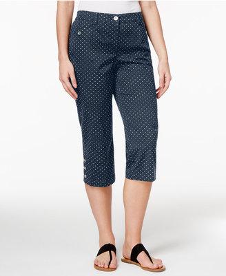Karen Scott Printed Capri Pants, Only at Macy's $39.50 thestylecure.com