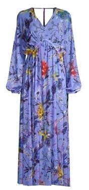 Fuzzi Swim Floral Cover-Up Maxi Dress