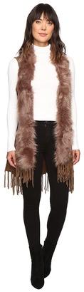 Christin Michaels - Syden Vest with Faux Fur Collar Women's Vest $69 thestylecure.com