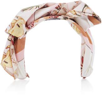 Albertus Swanepoel Theda Wrapped Cotton Headband