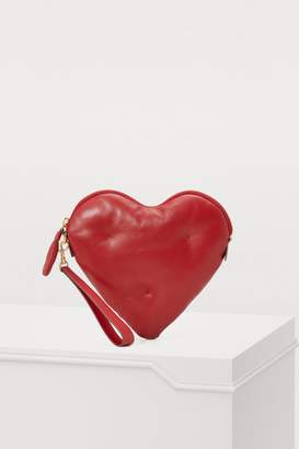 Anya Hindmarch Heart leather clutch