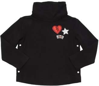 Ermanno Scervino Broken Heart Cotton Sweatshirt