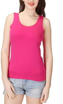 ecf942973f2 Lashapear Womens Modal Camisole Built in Shelf Bra Padded Tank Top Solid  Color Yoga Tanks Tops
