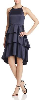 Nanette Lepore nanette Tiered Satin Dress