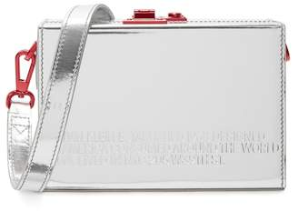 Calvin Klein Mini Silver Leather Box Bag