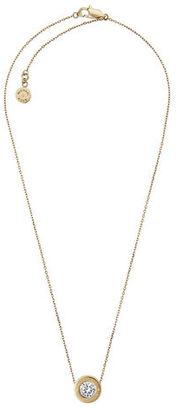 Michael Kors Logo CZ Pendant Necklace $95 thestylecure.com