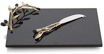 Michael Aram Olive Branch Cheese Board & Knife