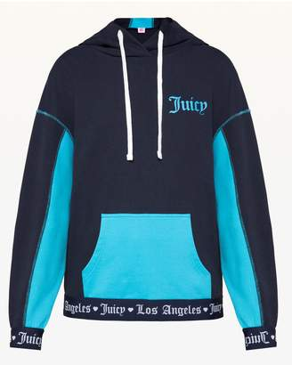 Juicy Couture JXJC Logo Colorblock Terry Hoodie