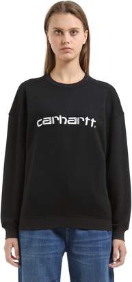 Carhartt Logo Embroidered Cotton Blend Sweatshirt