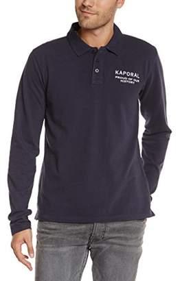 Kaporal Men's Plain or unicolor Button Front Long sleeve Polo Shirt