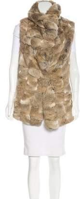 Jocelyn Standing Collar Fur Vest