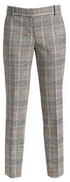 Theory Straight Plaid Pants