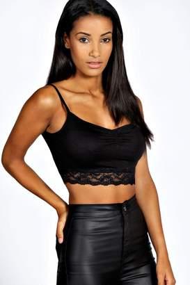 8cdcb7766762a Black Lace Bralet Crop Top - ShopStyle UK