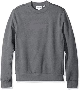 Lacoste Men's Long Sleeve Graphic Crew with Bonded Croc Sweatshirt