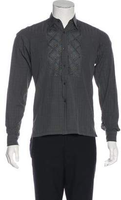 Dries Van Noten Embroidered French Cuff Shirt