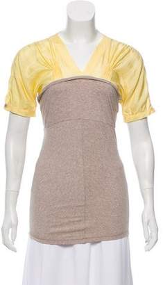 Brunello Cucinelli Short Sleeve V-Neck Top